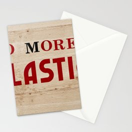 No more plastic label Stationery Cards