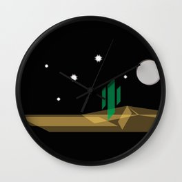 Desert Night Wall Clock