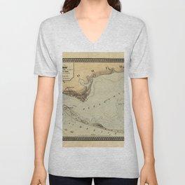 Map of Pensacola 1861 Unisex V-Neck