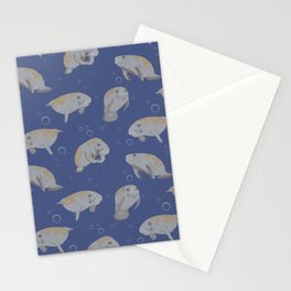 Manatees and Bubbles Stationery Cards