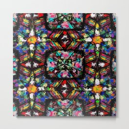 Ecuadorian Stained Glass 0760 Metal Print