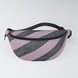 Dusty Pink and Silver Glitter Stripes Fanny Pack