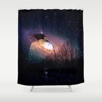 penguin Shower Curtains featuring penguin by  Agostino Lo Coco