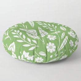 Blooming Field - green Floor Pillow