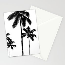 Monochrome tropical palms Stationery Cards