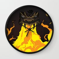 dungeons and dragons Wall Clocks featuring DUNGEONS & DRAGONS - INTRO by Zorio