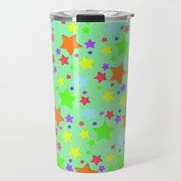 Colourful Stars Travel Mug