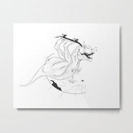 Sk8Ter-rex Metal Print