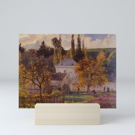 Bourgeois House In L Hermitage Pontoise 1873 By Camille Pissarro | Reproduction | Impressionism Pain Mini Art Print