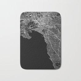 Melbourne Black Map Bath Mat