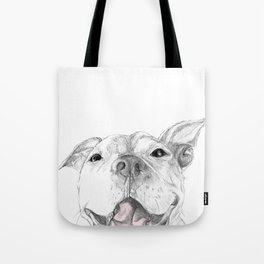 A Smile is Worth a Thousand Words :: A Pit Bull Smile Tote Bag