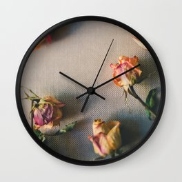 Dried Roses Are Beautiful Too Wall Clock
