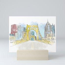 Roberto Clemente Bridge Mini Art Print