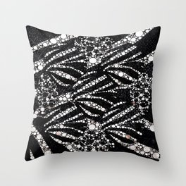 Black&Silver Abstract Bling Pattern  Throw Pillow