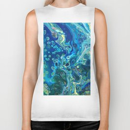 Fluid Nature - Marine Odyssey - Abstract Acrylic Art Biker Tank