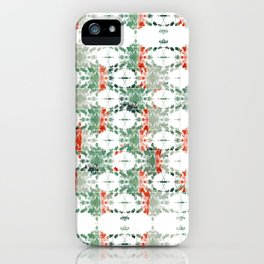 estrela_turqouise&red_no2 iPhone Case
