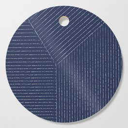 Lines / Navy Cutting Board