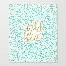 Wild at Heart – Turquoise & Gold Canvas Print