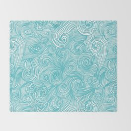 Ocean waves Throw Blanket