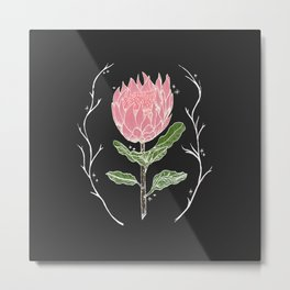 Heather's Protea Metal Print