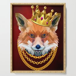 The King of Foxes Serving Tray