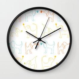 Doggy Line Work Wall Clock