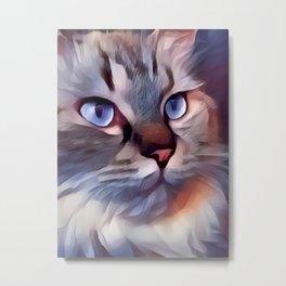 Cat 8 Metal Print