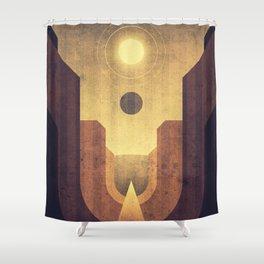 Janus & Epimetheus - Co-Orbital Moons Shower Curtain