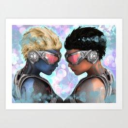 Head 2 Head Art Print