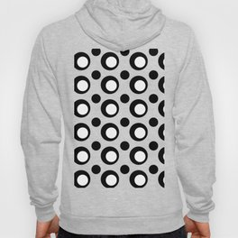 Monochrome Black and White Dots Hoody