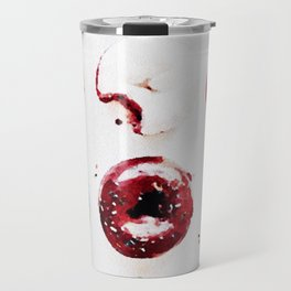 watercolor doughnuts Travel Mug