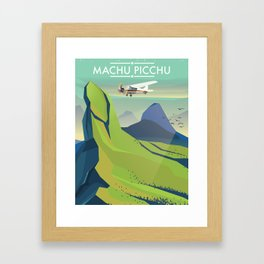 machu picchu travel poster Framed Art Print