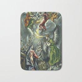 """El Greco (Domenikos Theotokopoulos) """"The Annunciation (1597 - 1600)"""" Bath Mat"""