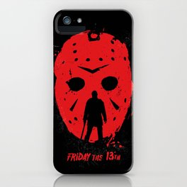 Friday the 13th Jason mask iPhone Case