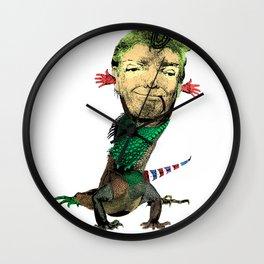 Trump Lizard Wall Clock
