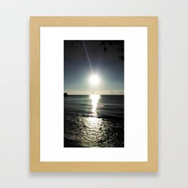 Shortly after sunrise near Nessebar beach, Bulgaria, the Black Sea Framed Art Print