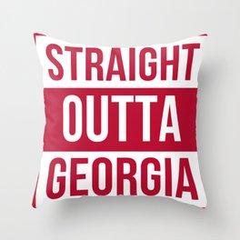 Straight Outta Georgia Print Throw Pillow