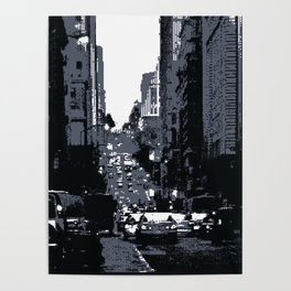 San Francisco Street PIXELATED Poster