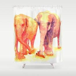 A couple of elephants Shower Curtain