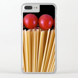 Spaghetti and tomatoes Clear iPhone Case