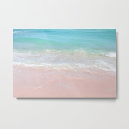 Beach shoreline | Waves Metal Print