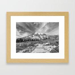 Trail Up Rainier Framed Art Print