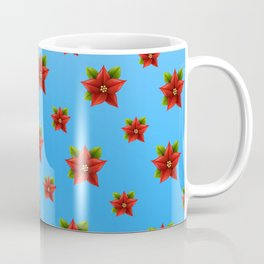 Red Flowers Pattern 2 Coffee Mug