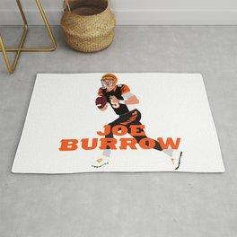 Joe Burrow #1 Pick Art Rug