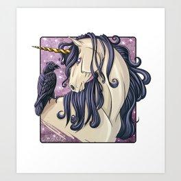 Gothic Unicorn Art Print