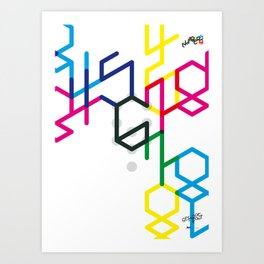 Number six Art Print