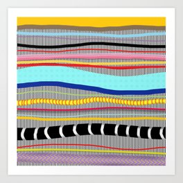 Bold stripes,breezy and beautiful,Striped Contemporary world's cute fashion Art Print