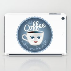 Cold coffee makes you beautiful... iPad Case