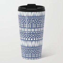 Kenya Stripe - White on Blue Travel Mug