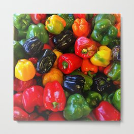 Colorful Bell Peppers Metal Print
